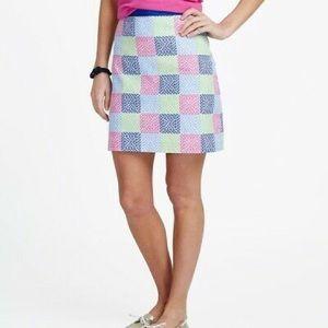 VINEYARD VINES Patchwork Quilt A-Line Skirt  6